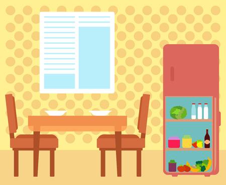 cozy kitchen room interior