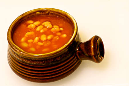 soup pot: Photo of Baked Beans in Soup Pot Stock Photo