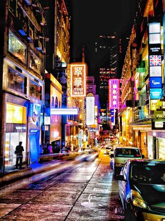 Lan Kwai Fong, Central, Hong Kong Stock fotó