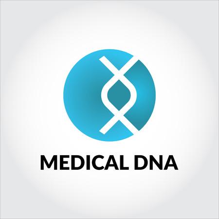 Medical DNA logo Ilustrace