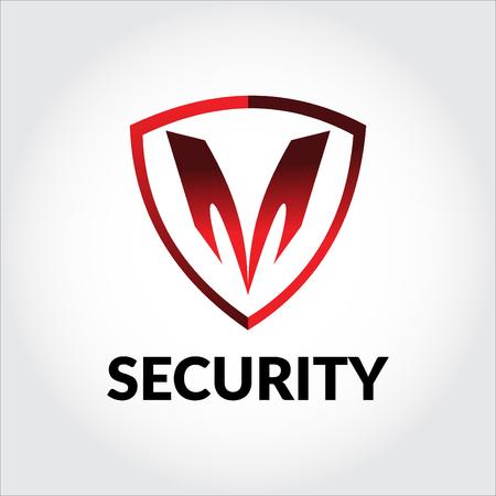 Letra M logo de seguridad