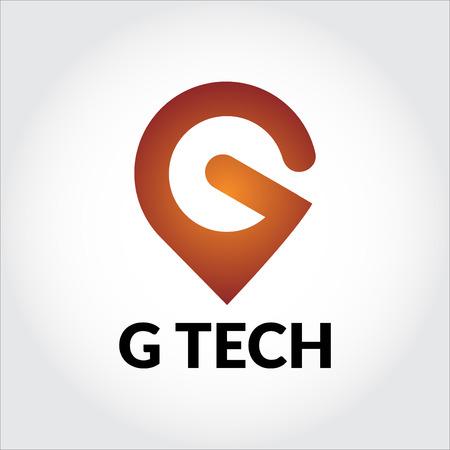 Letter G tech logo Illustration