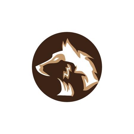 head fox vector logo