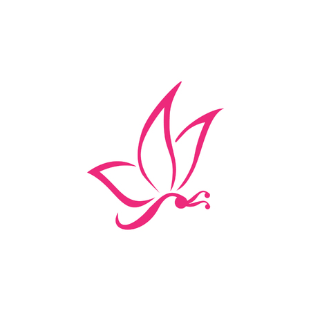 butterfly abstract vector logo