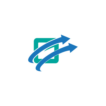 letter G with arrow logo