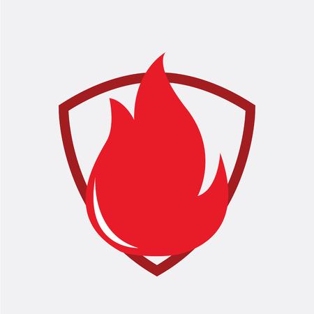 fire logo vector illustration.