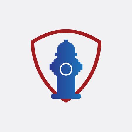 firefighters logo vector illustration.
