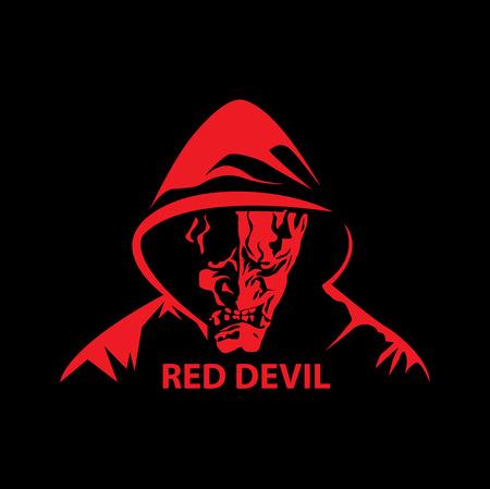 Red devil vector. Illustration