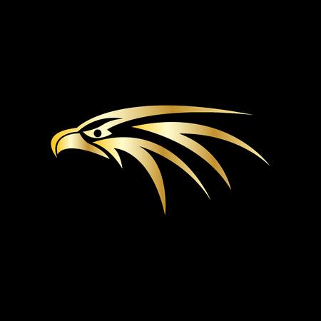 eagle icon on black background