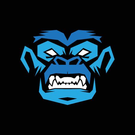 Gorilla t shirt icon.