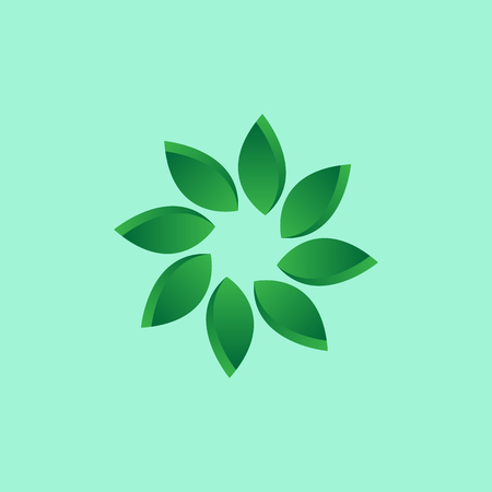 Abstract flower symbol