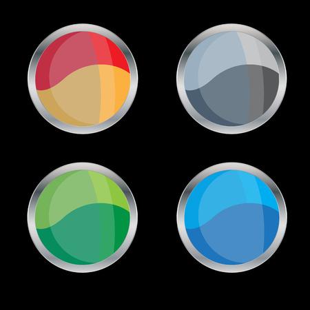 Set of emblems, vector illustration Stock Illustratie