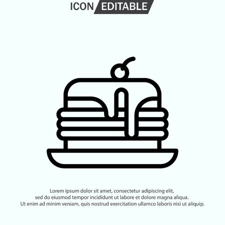 PANCAKES line icon, outline vector  illustration, linear pictogram isolated on white