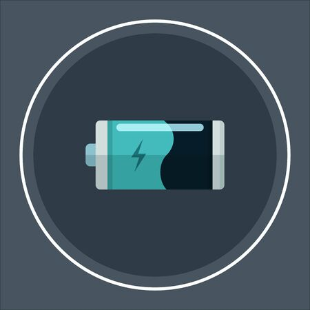Battery charge icon. Vector illustration. Ilustração