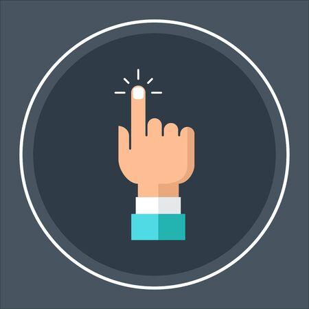 Hand click icon. Finger pointer pointer vector