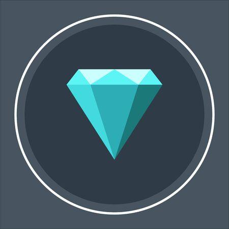 Diamond icons. Vector geometric icons. vector illustration