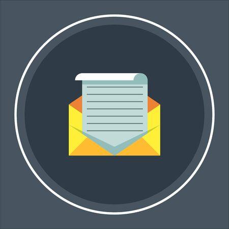 envelope. message icon, envelope illustration - vector mail icon, send letter isolated Illusztráció