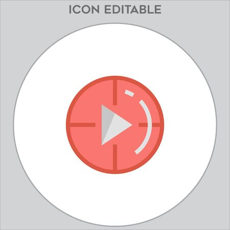 Play icon, Play icon vector, in trendy flat style isolated