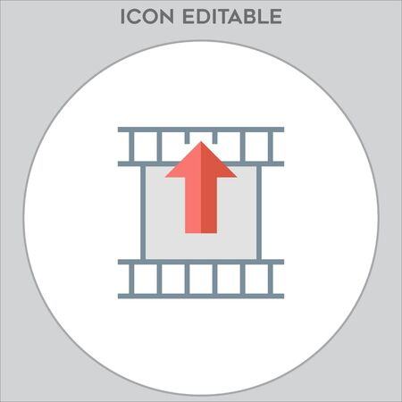 filmstrip icon vector, in trendy flat style isolated
