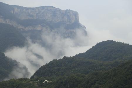 redstone: Yuntai Mountain Mist scenery landscape view