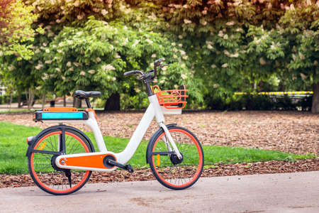 electric bicycle for walking in the park