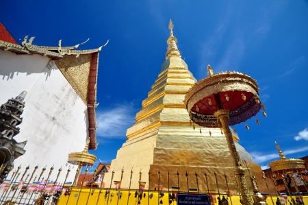 Wat Phra That Cho Hae, Phrae Thailand Banque d'images