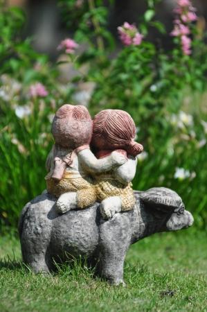 Doll in the Garden  photo