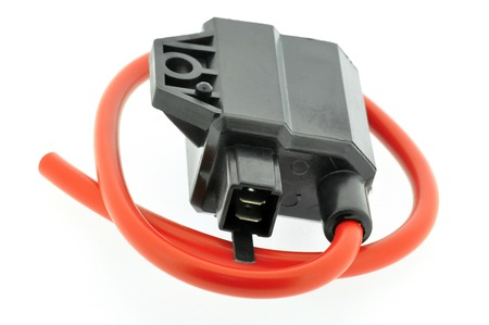 motor car candles: Ignition Coil motorcycle Stock Photo