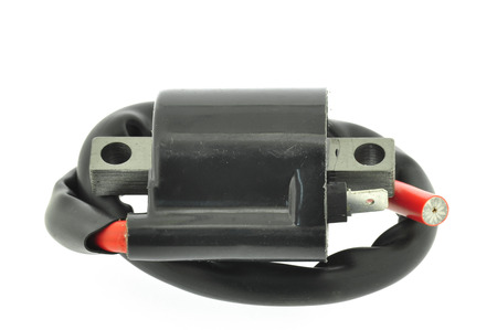 ignition: Ignition Coil motorcycle Stock Photo