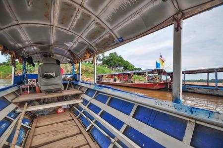 mekong: Mekong River Ferry Stock Photo