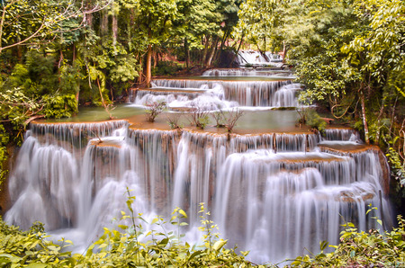 khamin: Huay Mae khamin waterfall Stock Photo