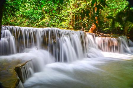 huay: Huay Mae khamin waterfall Stock Photo