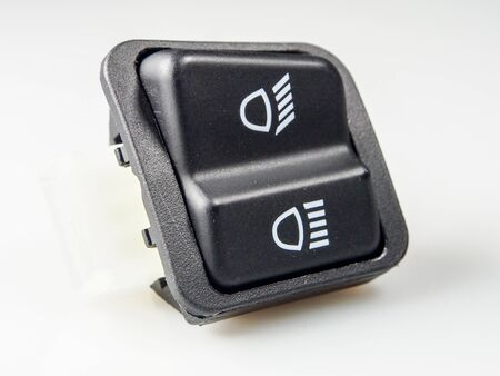 Headlight switch, high-low motor Motorcycle Stock Photo