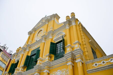 An ancient building in Macau Island Banque d'images