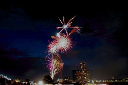 night views: Fireworks, SETAGAYA TOKYO JAPAN