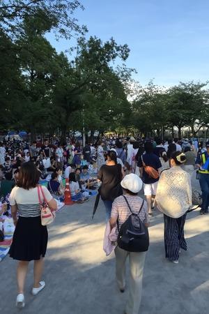 SUMIDAGAWA fireworks, tourists ASAKUSA TOKYO, Japan editorial Editorial