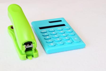 stapler: Calculator and stapler