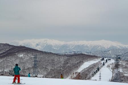 ski run: Japan Ski Resort Stock Photo
