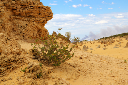 tourist attraction: The Pinnacles Desert, Nambung National park, Western Stock Photo