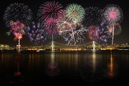 Tokyo fireworks,image Stock Photo