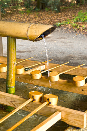 cleanse: Cleanse your temple water, japan Stock Photo