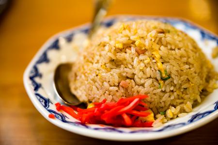A girl who eats fried rice