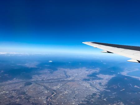 sprawl: Scenery from the sky above Osaka Stock Photo