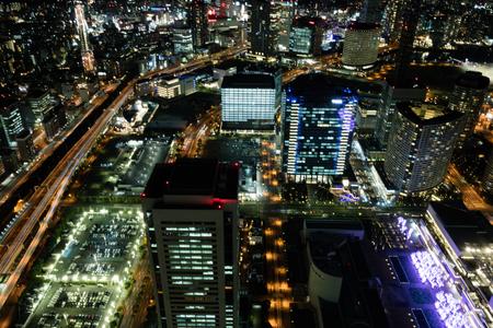 Minato Mirai 21,central business district of Yokohama, Japan. Initially developed in the 1980s, 15jan2017 JAPANKANAGAWYOKOHAMA