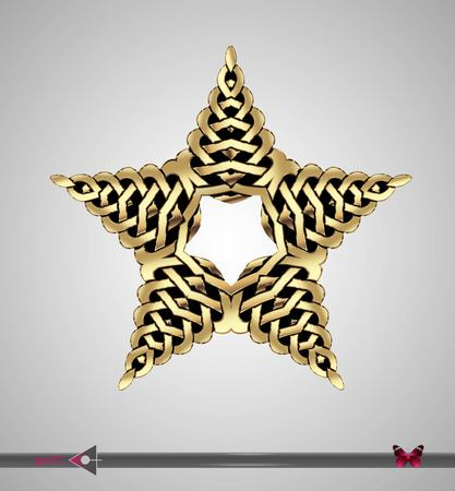 scandinavia: Celtic pattern. Star. Vector ornament. Design element Illustration