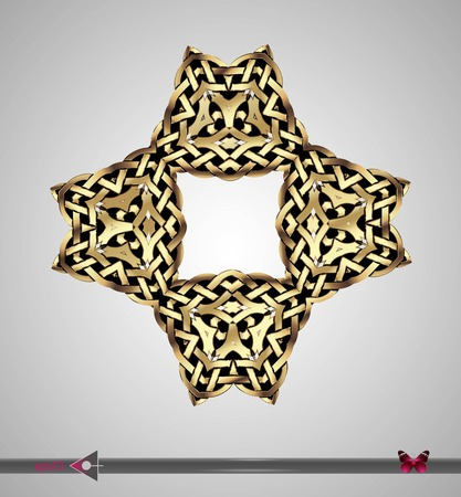 circl: Celtic pattern. Square. Vector ornament. Design element