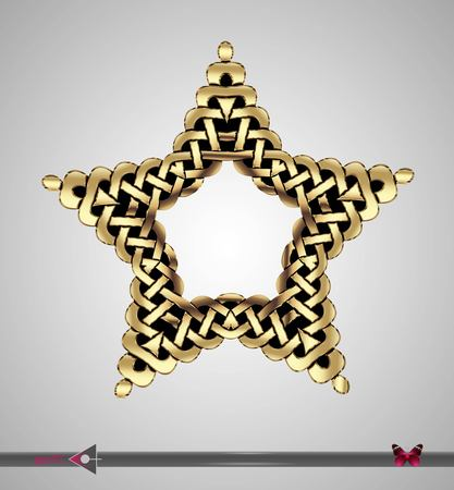 keltische muster: Celtic pattern. Star. Vector ornament. Design element Illustration