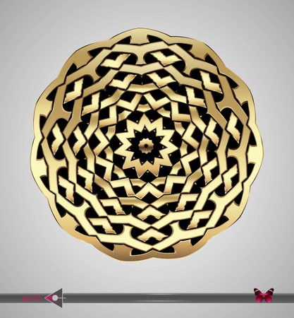 keltische muster: Celtic pattern. Round. Vector ornament. Design element Illustration