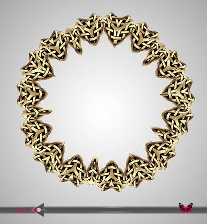 circl: Celtic pattern. Round frame. Vector ornament. Design element Illustration