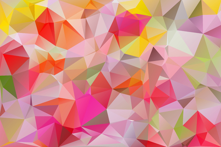 triangle shaped: Abstract low poly triangles background. Futuristic pattern. Geometric polygonal design. Multicolor. Warm colors and shades